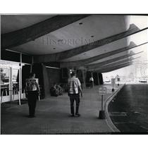 1966 Press Photo Spokane International Airport during airline mechanics strike.