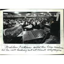1983 Press Photo 600 players at the Lac Courte Oreilles Bingo Palace.