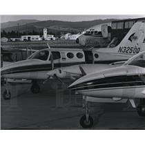 1968 Press Photo Aircraft at Spokane International Airport - spa21990