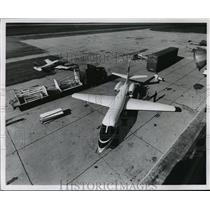 1962 Press Photo An exact scale mobile mock up of a jet aircraft for business