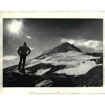 1976 Press Photo Man on Newton Clark Glacier on Mount Hood - orb25196