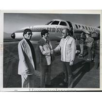 1978 Press Photo Gem State Airline plane used by Mayor Donald Johnson and others