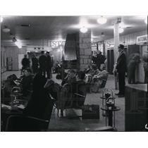 1965 Press Photo People waiting in Spokane International Airport - spa21983