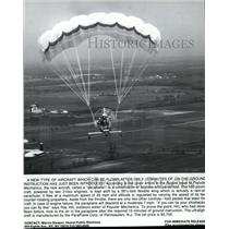 1983 Press Photo The Paraplane a Combination of Airplane and Parachute