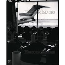 1966 Press Photo Spokane Airport Terminal Interior - spa23661