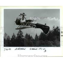 1993 Press Photo Porland Rose Festival - Air Show - orb36100