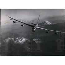 1955 Press Photo B-52 Bomber over Mt. Adams - spa22054