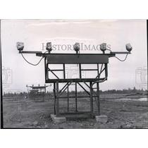 1957 Press Photo Geiger Airstrip lights - spa21994