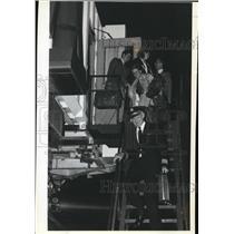 1983 Press Photo Capt. Larkin W. Roberts Leads His Family After Last Flight