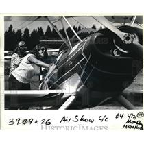 1983 Press Photo Veanne Williams, Only Woman Pilot At Antique Air Show