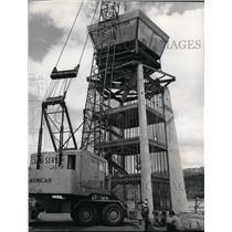 1997 Press Photo Tower is topped at Felts Field. - spa22363