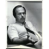1981 Press Photo Dick Prang at Spokane International Airport Central Tower