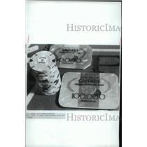 1985 Press Photo Casino Money at Caesar's Palace in Atlantic City - cvb58770