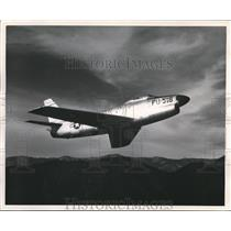 1956 Press Photo The 1st one man all-weather Jet interceptor - orb09858