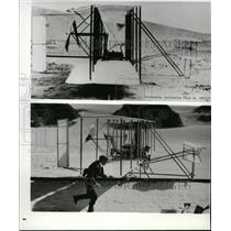 Press Photo First Manned Heavier-than-air Flight by the Wright Brothers