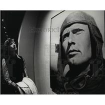 1977 Press Photo Portrait of Charles Lindbergh at the Air and Space Museum