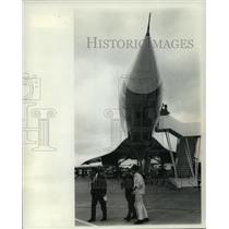 1968 Press Photo A prototype of the delta winged Concorde at Le Bourget Airport