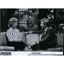 1981 Press Photo Former First Lady Betty Ford with Host Gary Collins - spp00579
