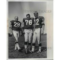 1968 Press Photo: William Eleby, Lou Groza, Don Cockoft - Cleveland Browns