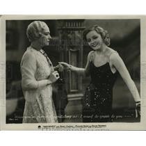 1932 Press Photo Pauline Frederick and Nancy Carroll in Wayward