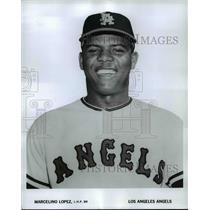 1965 Press Photo Marcelino Lopez, L.H.P. BR, Los Angeles Angels - cvb67679