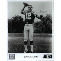 "Press Photo Joe Namath in ""Idols of the Game"" on TBS - cvb67500"