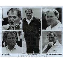 Press Photo Pittsburgh Steelers Head Coach Chuck Noll - cvb67166