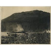 1923 Press Photo Wharf at Seward, Alaska where Presidential party will land