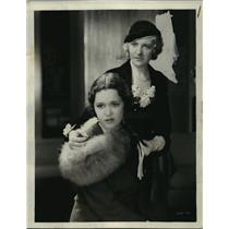 1932 Press Maureen Sullivan and Verra Teasdale in Skyscraper - mjx00408