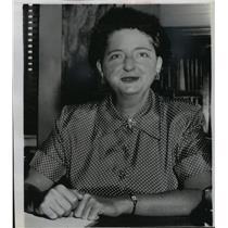 1951 Press Photo Miss Elizabeth Bentley, self-styled former Communist spy