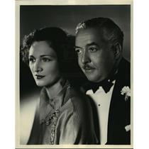 1935 Press Photo Nedda Harrigan & Walter Connolly in Columbia's I'll Fix It