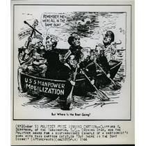 1944 Press Photo Clifford Berryman's Pulitzer prize winning cartoon - mjx00129
