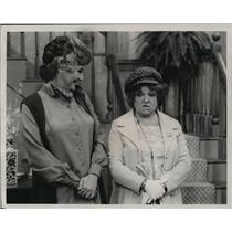 1974 Press Photo Maude's new maid Hermione Baddeley debuts on CBS' Maude