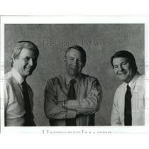 1992 Press Photo Tom Brokaw, Jim Lehrer and Robert MacNeil - cvb73840