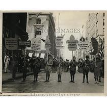 """1922 Press Photo New York 15,000 children open """"Safety Week"""" NYC - neny00661"""