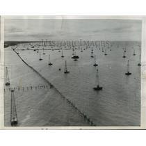1956 Press Photo Little Suez in Lake Maracaibo, Venezuela - mja11895