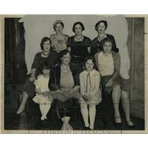 1931 Press Photo Mrs. WC Knoernschild & daughters at Mothers & Daughters banquet