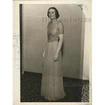 1937 Press Photo Betty Leedom now Mrs. Walter C. Davidson  - mja17485