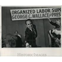 1973 Press Photo Gov. George Wallace, Presidential Campaign  - mja13075