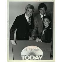 "1979 Press Photo Phil Donahue with ""Today's"" Jane Pauley and Tom Brokaw"