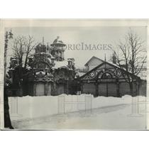 1929 Press Photo Heavy Snow at Amusement Place in Vienna, Austria - mja03976