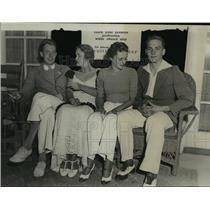 1933 Press Photo Cyrus Edmonds, Anita Vogel, Jeanne Skinner, Forsyth Johnston