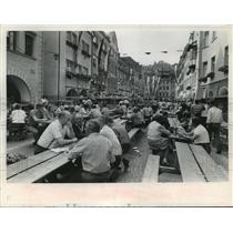 1974 Press Photo Participants in the winefest at Feldkirch, Austria - mja04061