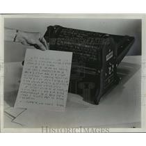 1957 Press Photo Standard Multigraph Duplicator for the Blind - mja03196