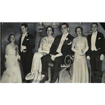 1930 Press Photo Elizabeth Schroeder, Kimball Carhart, Miss Thekla Brunder