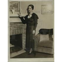 1934 Press Photo Mrs Weston Lang  - mja14870