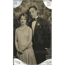1929 Press Photo Miss Carol Bird and fiance Herbert Brown at Junior League Fest
