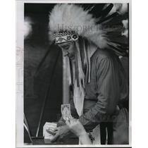 Press Photo William Boyce in his Indian costume - mja09543
