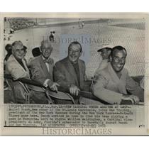 1953 Press Photo August Busch, Dan Topping, Al Lang - mja16852