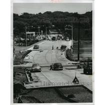 1958 Press Photo The new 4th Av bridge across the Rock River at Janesville, Wis